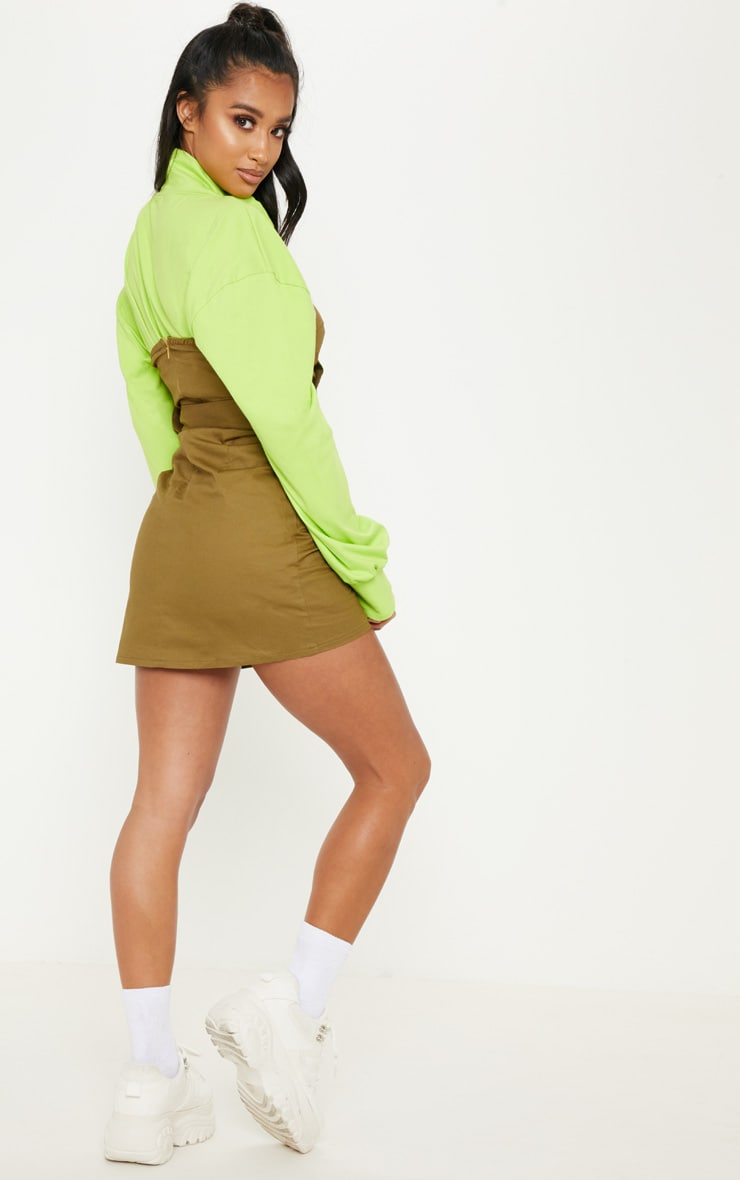 Petite Khaki  Bandeau Trench Dress 2