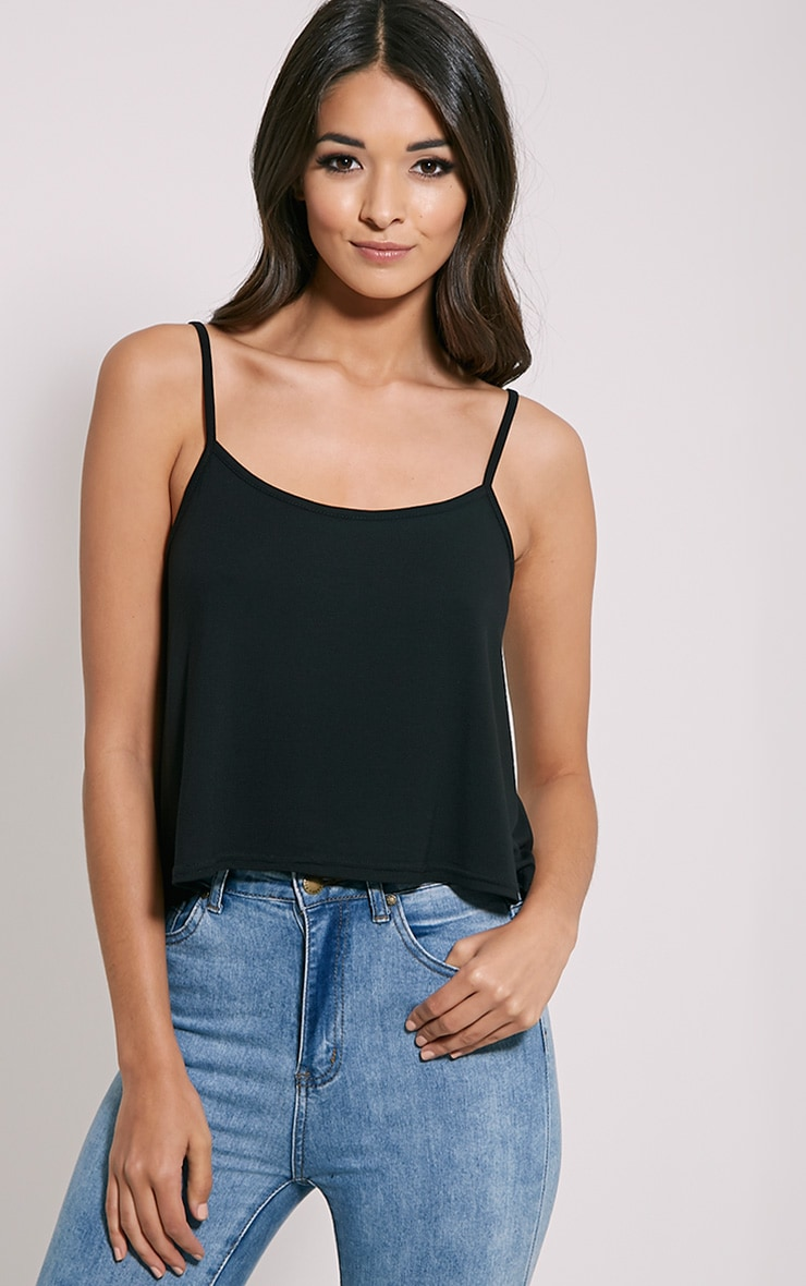 Basic Black Jersey Swing Cami Top 4