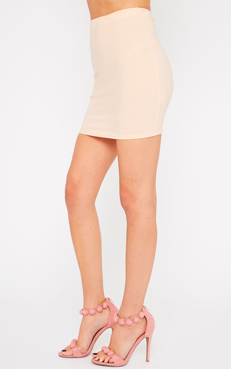 Emilia Nude Crepe Mini Skirt 3