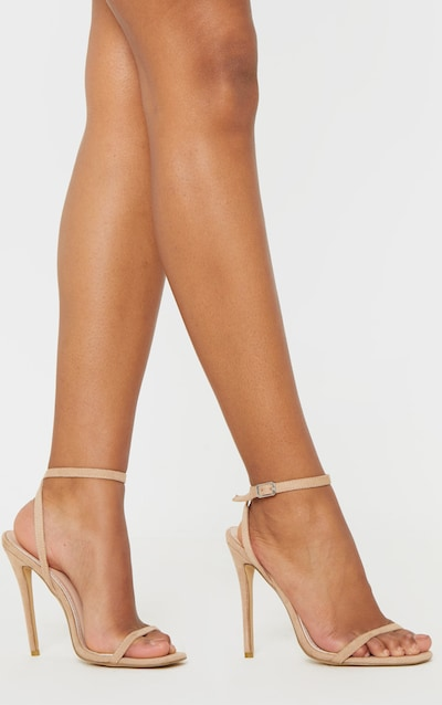 Nude Square Toe Thin Strap Sandal