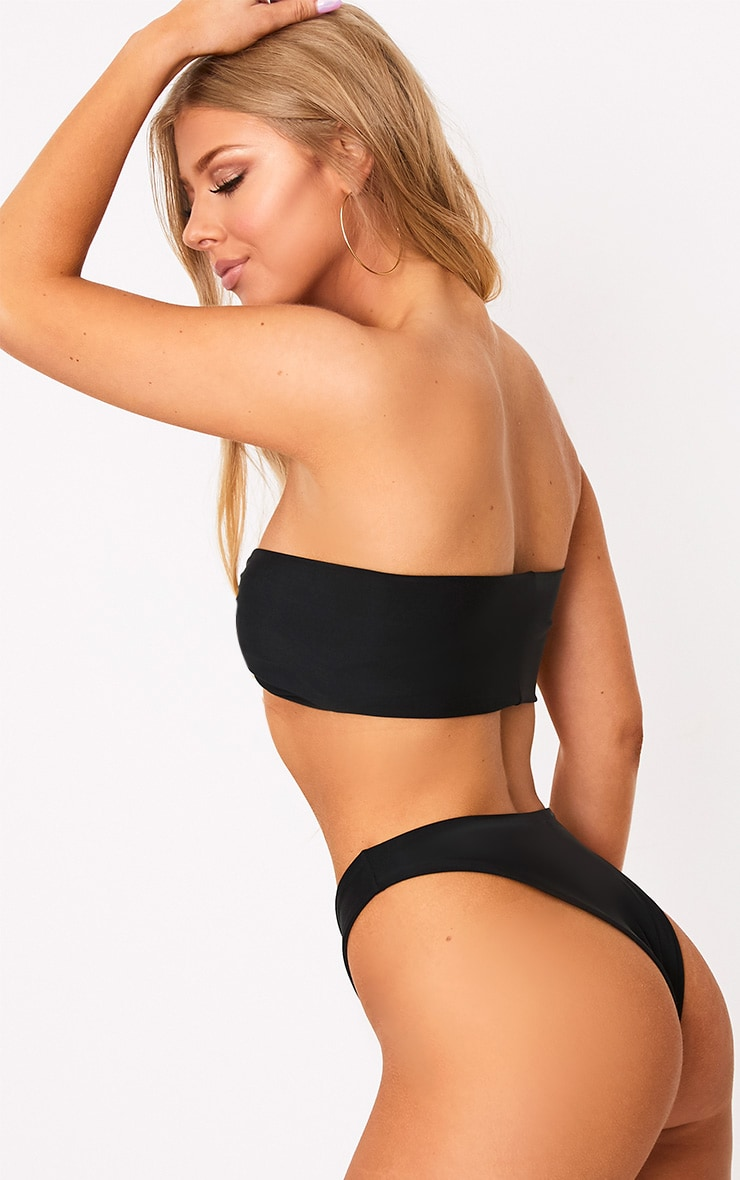 Black Bow Top Bikini Set 2