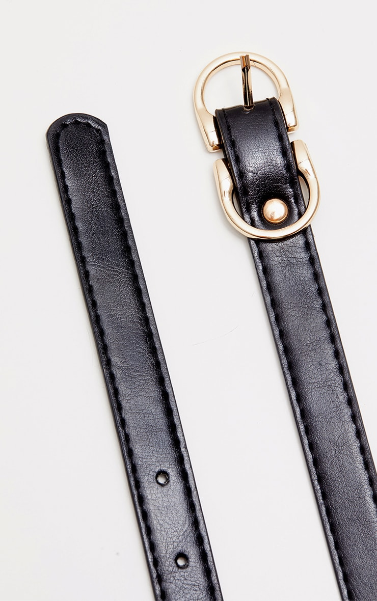 Black Double Bridle Buckle Belt 4