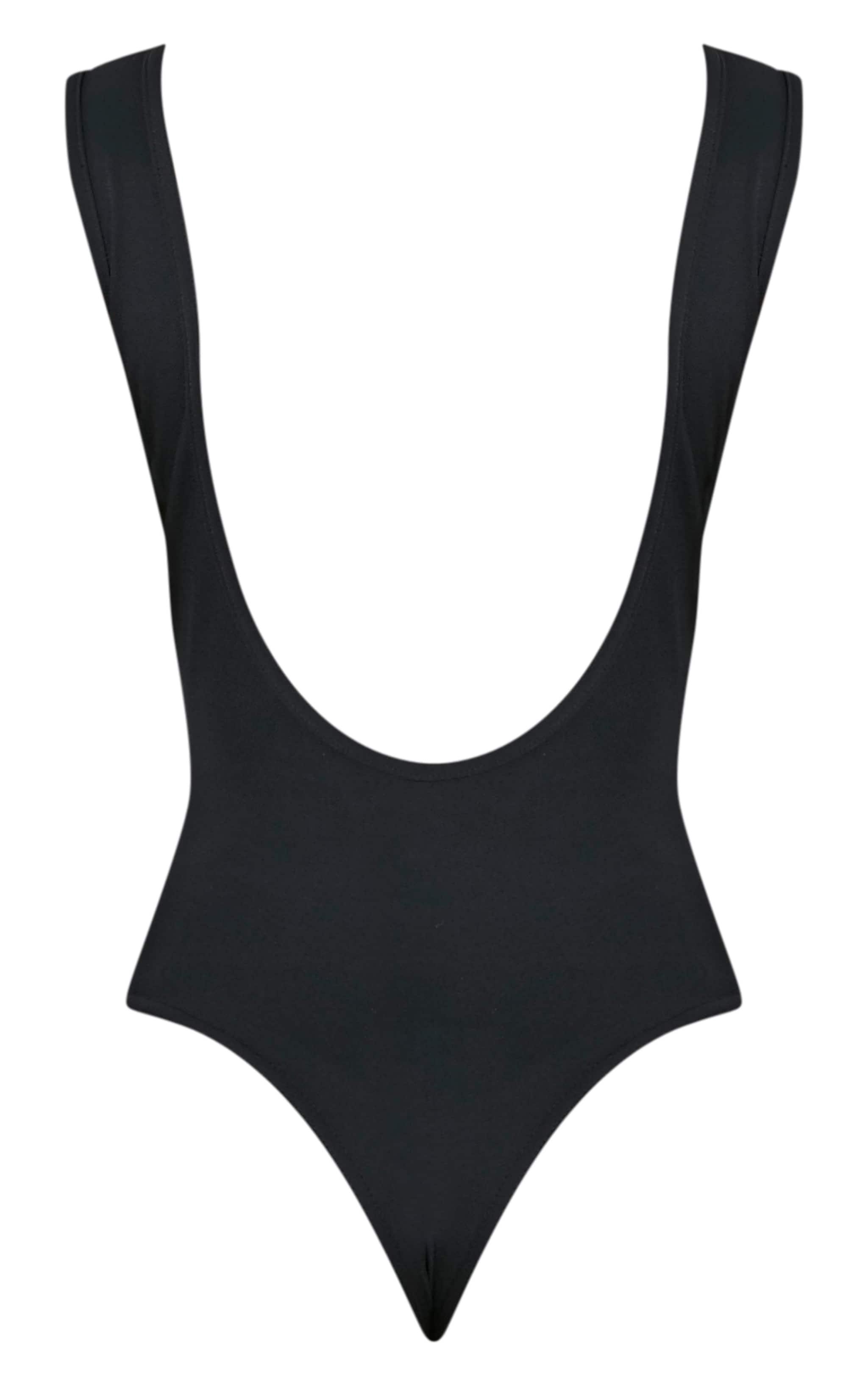 Lorelei Black Cut Out Plunge Thong Bodysuit 5