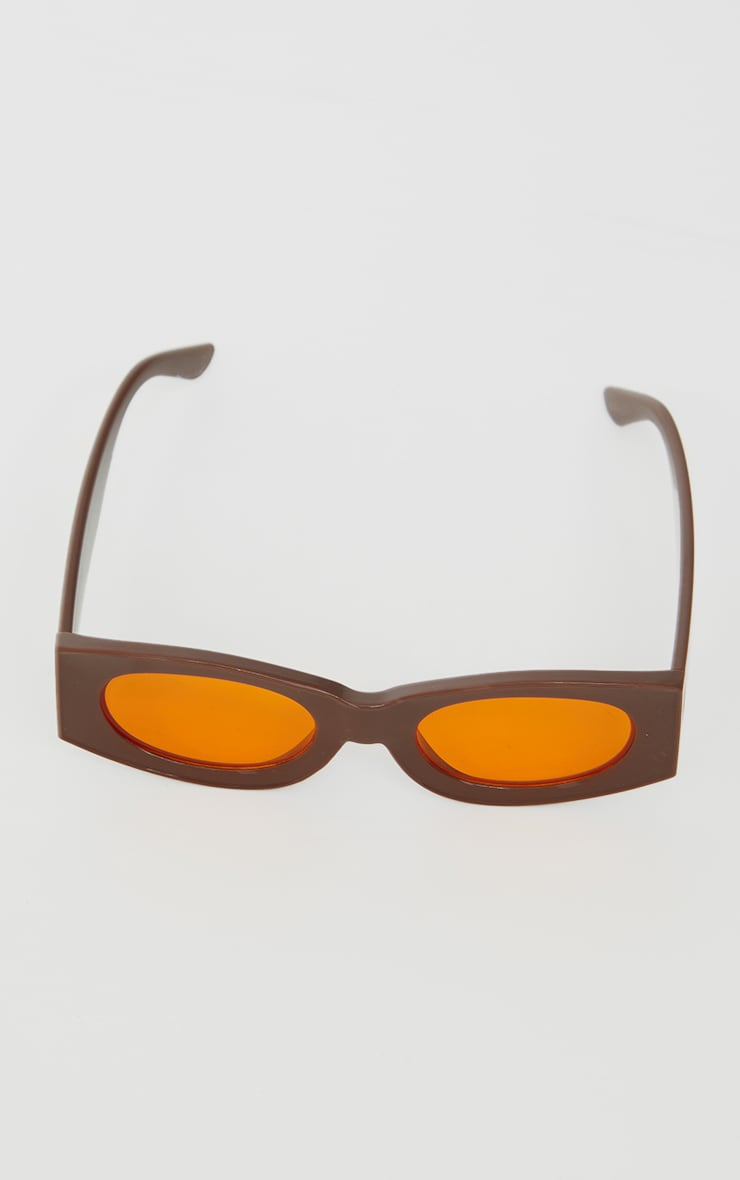 Chocolate Outlined Square Sunglasses 3