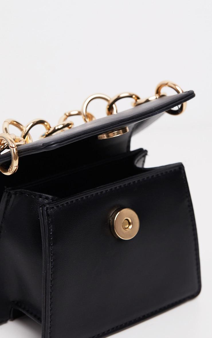 Mini-sac noir à détail chaîne 5