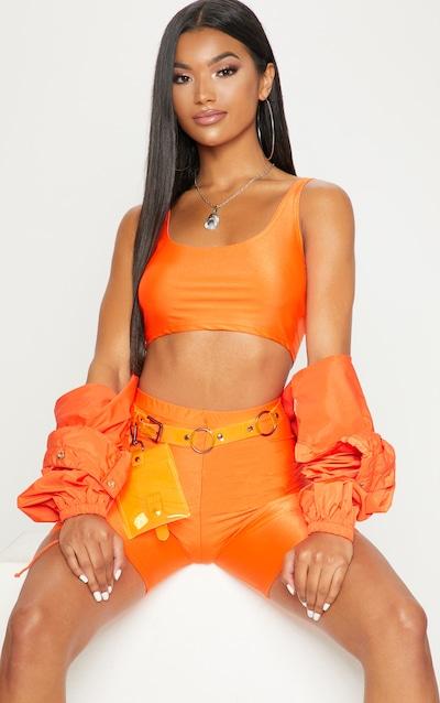 90d1b09454 Orange Neon bike Shorts