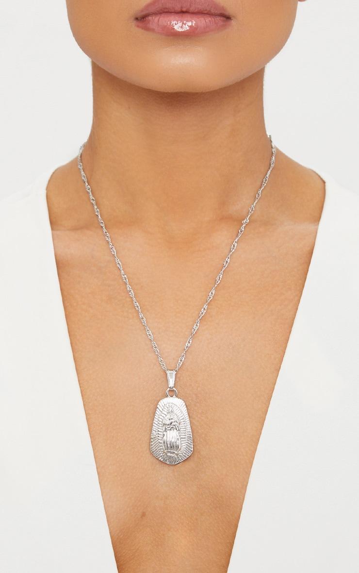 Silver Renaissance Pendant Drop Necklace 3
