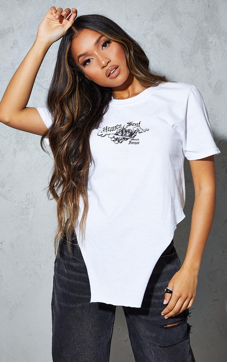 Petite White Heavensent Graphic T Shirt 3