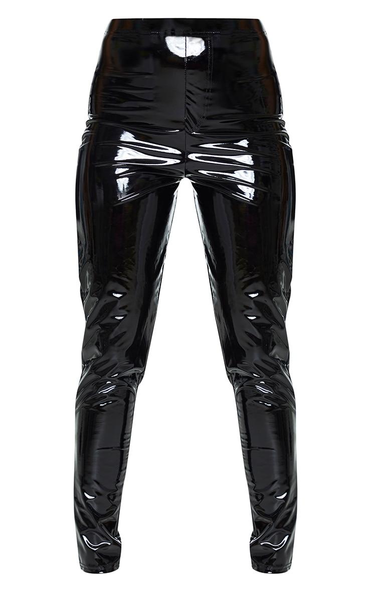 Black Vinyl Pocket Detail Skinny Trousers 5