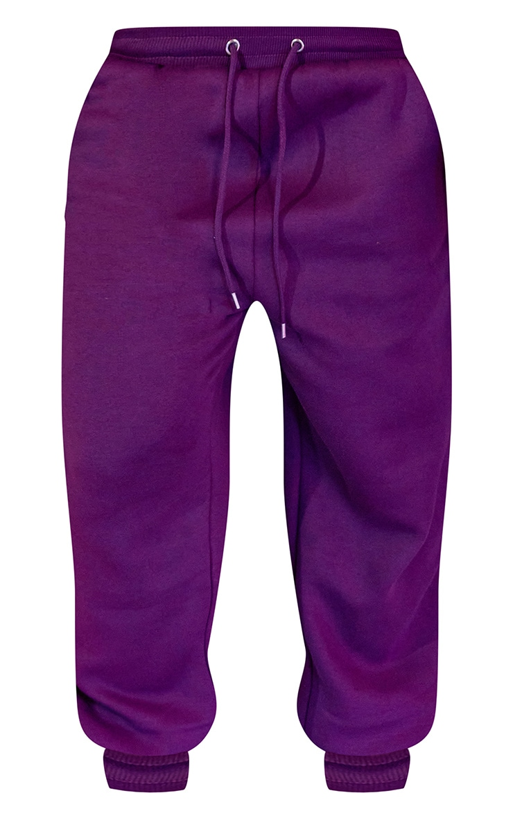 Purple Unisex Oversized Joggers 6