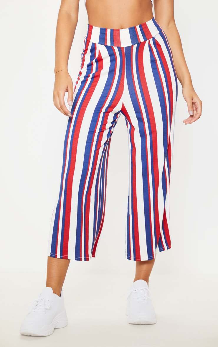 Scarlet Stripe Basic Culotte  2