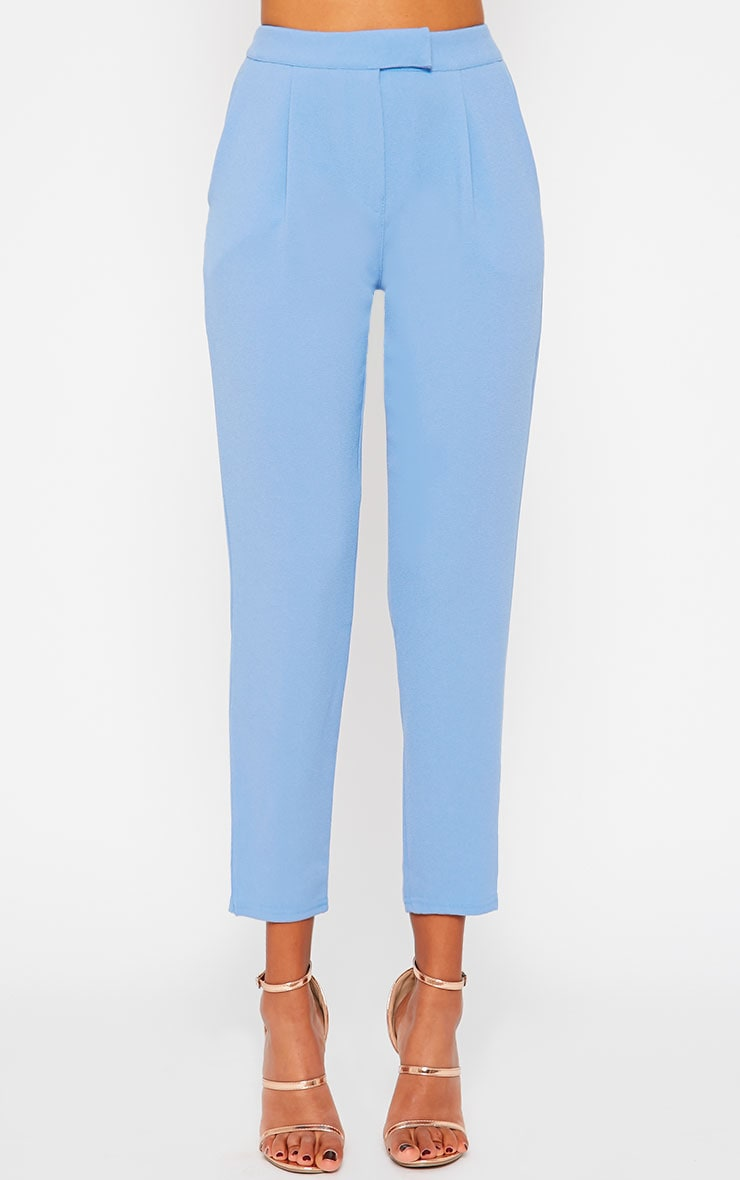 Iris Blue Cigarette Trousers 2
