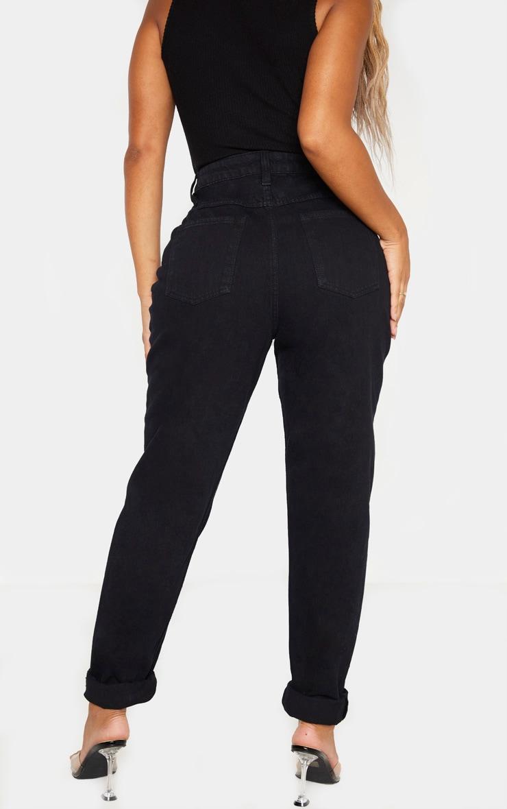 Shape Black High Waist Mom Jeans 4