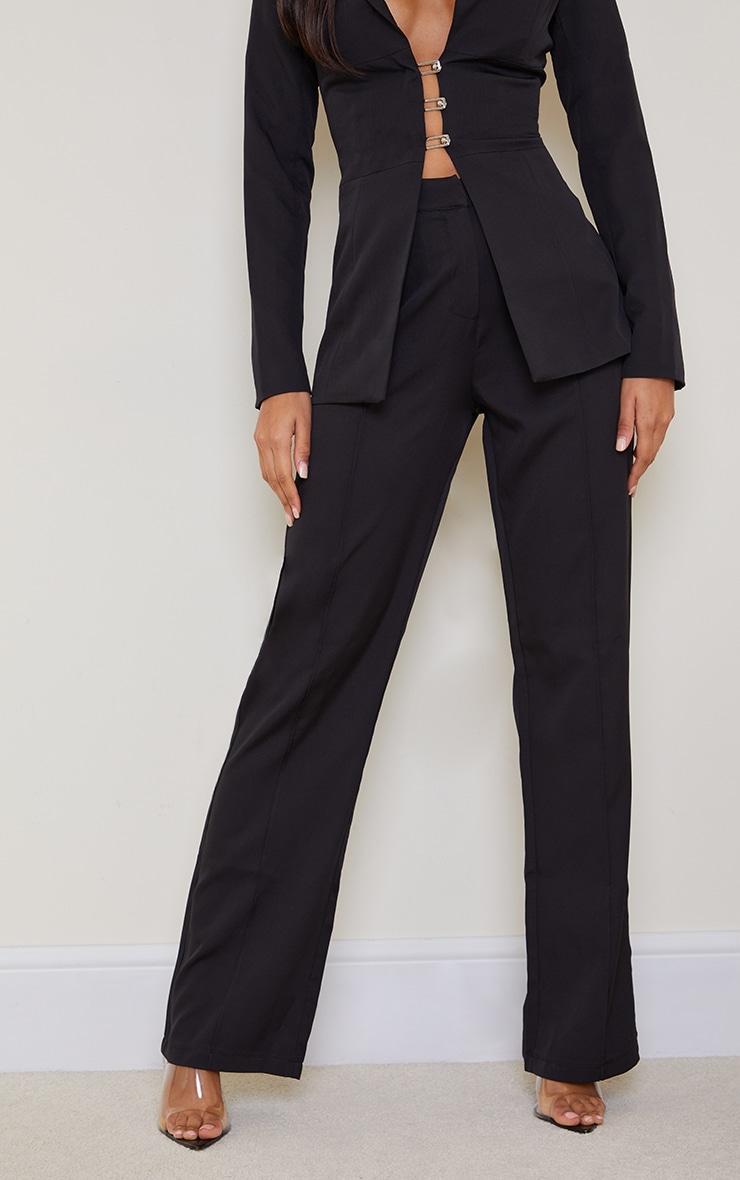 Black Wide Leg High Waist Pants 2