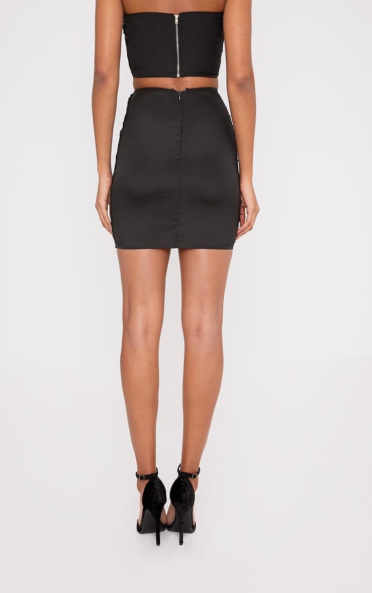 Patrice Black Sequin Mini Skirt 4