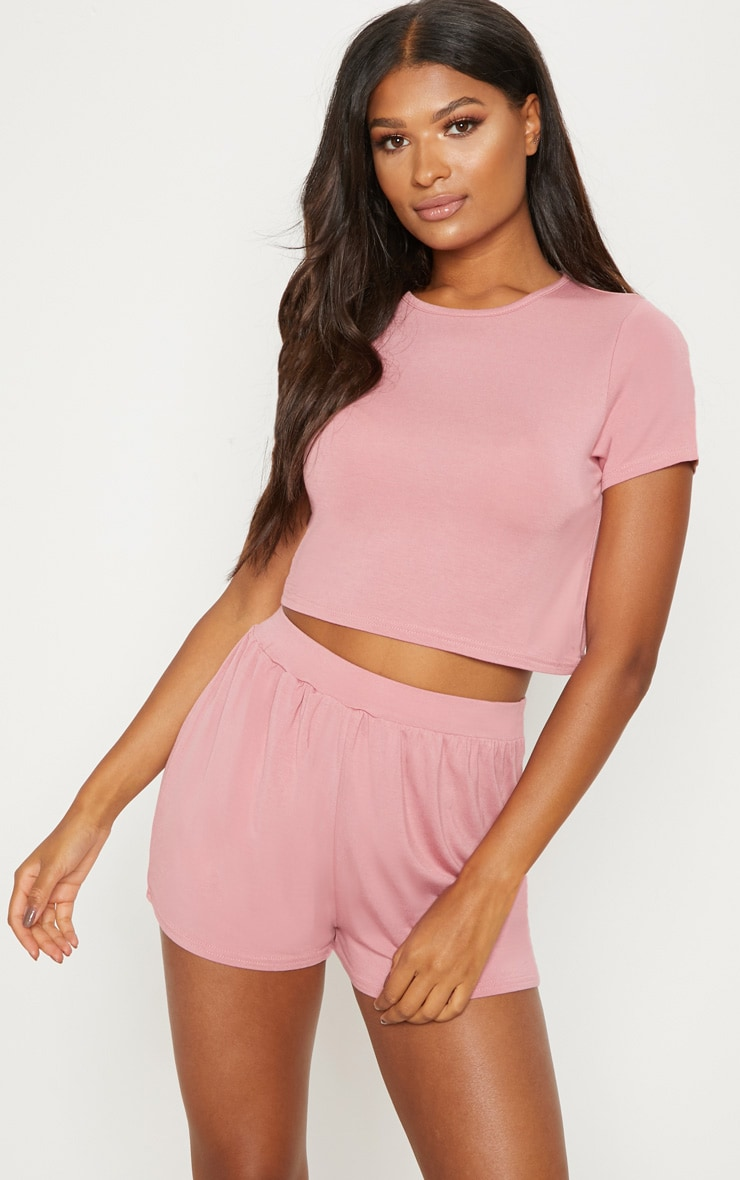 Dusty Pink Mix & Match Pyjama Shorts