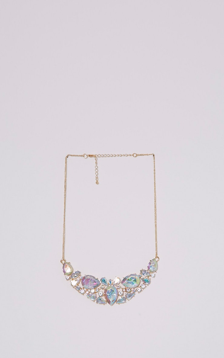 Erylia Gold Multi Stone Statement Necklace 3