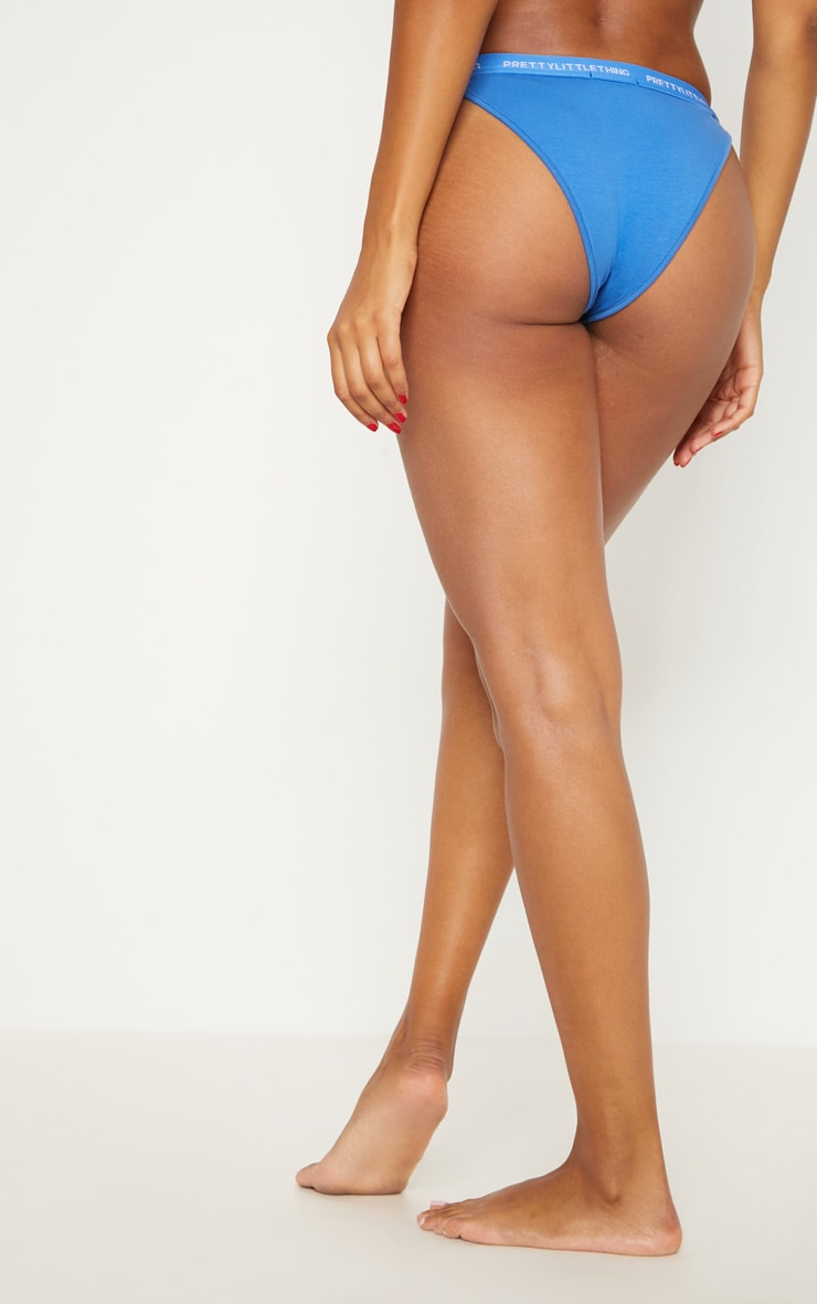 PRETTYLITTLETHING Blue Knicker 4