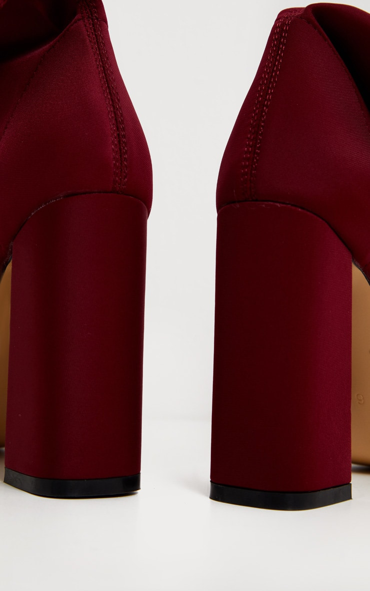 Burgundy Point Lycra Sock Boot 4