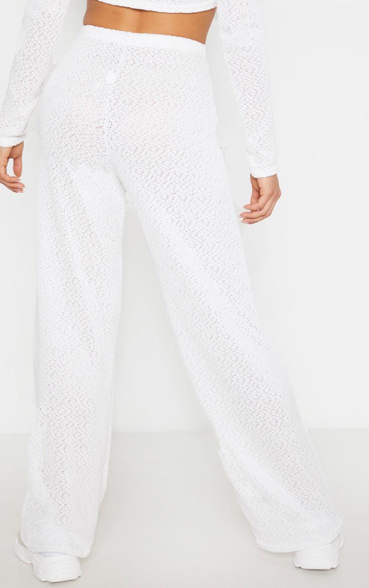 Tall Cream Soft Knit Flared Pants 4