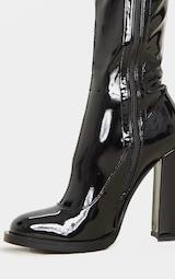 Bottes-chaussettes noires à talon bloc 3