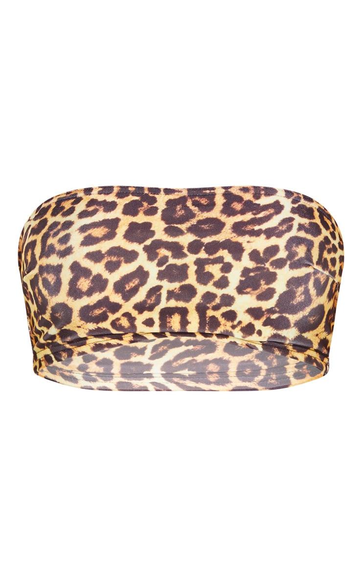 Leopard Mix & Match Bandeau Bikini Top 3