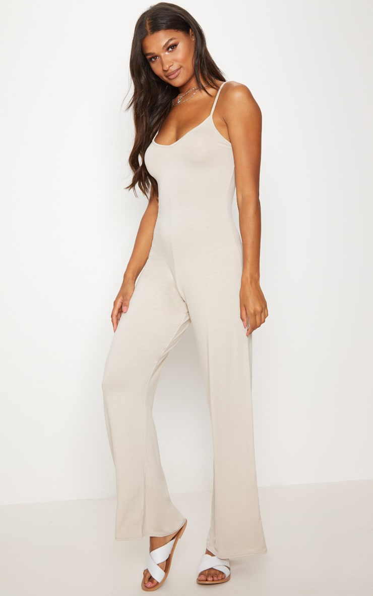 Stone Jersey Over Sized Slouchy Jumpsuit 1
