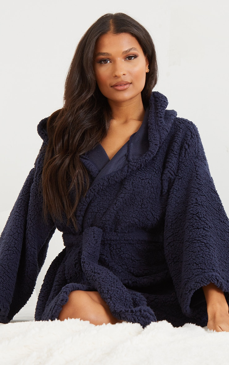Navy Borg Dressing Gown 1