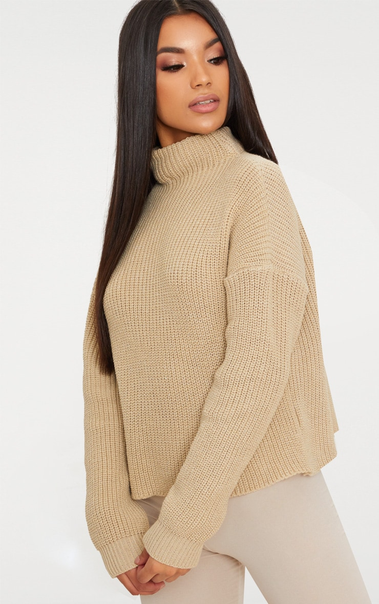 Stone High Neck Sweater 4