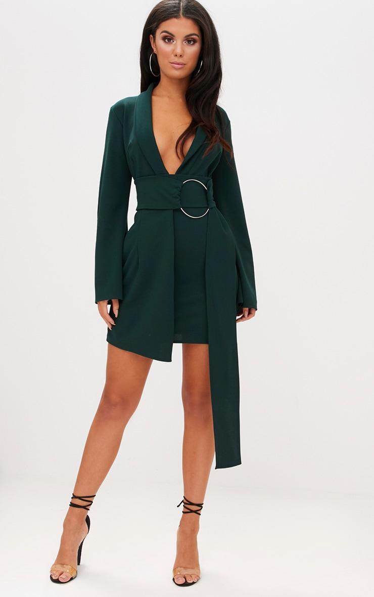 Robe blazer à anneau surdimensionné vert émeraude 4