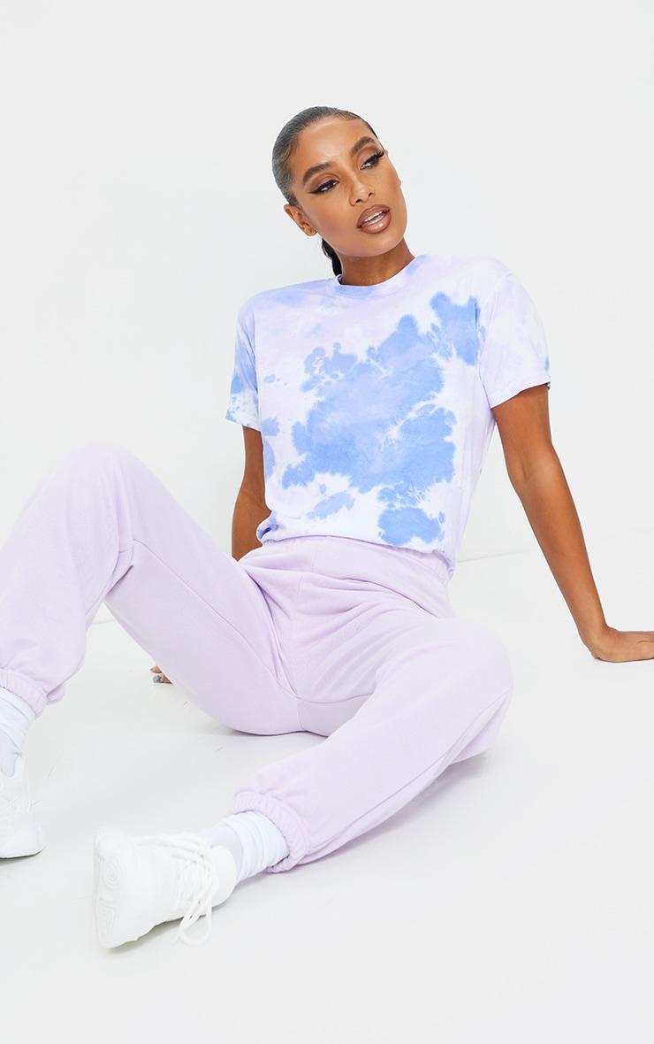 Blue Short Sleeve Tie Dye T Shirt 3
