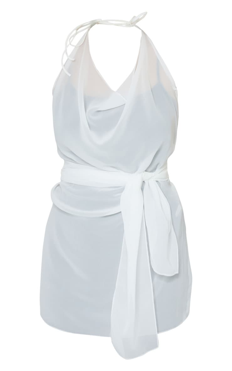 White Knot Back Beach Dress 5