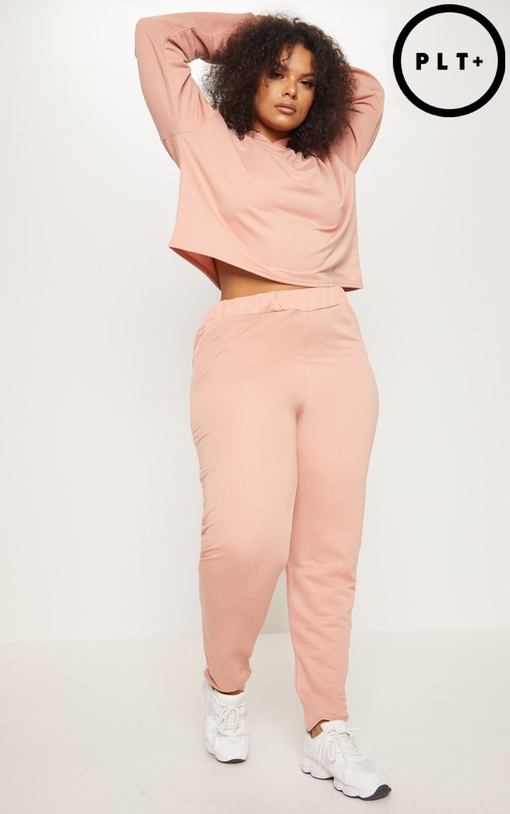 Plus Dusty Coral Joggers 1