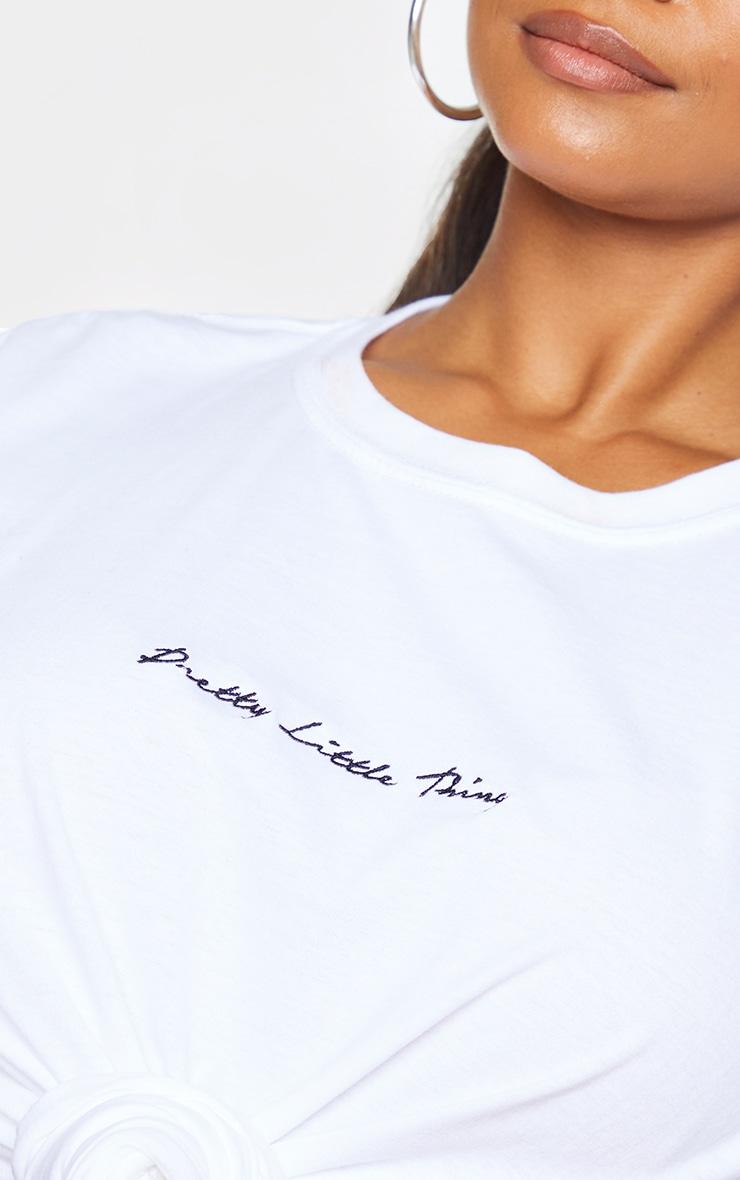PRETTYLITTLETHING Plus 2 Pack Black & White Oversized T -Shirts 4