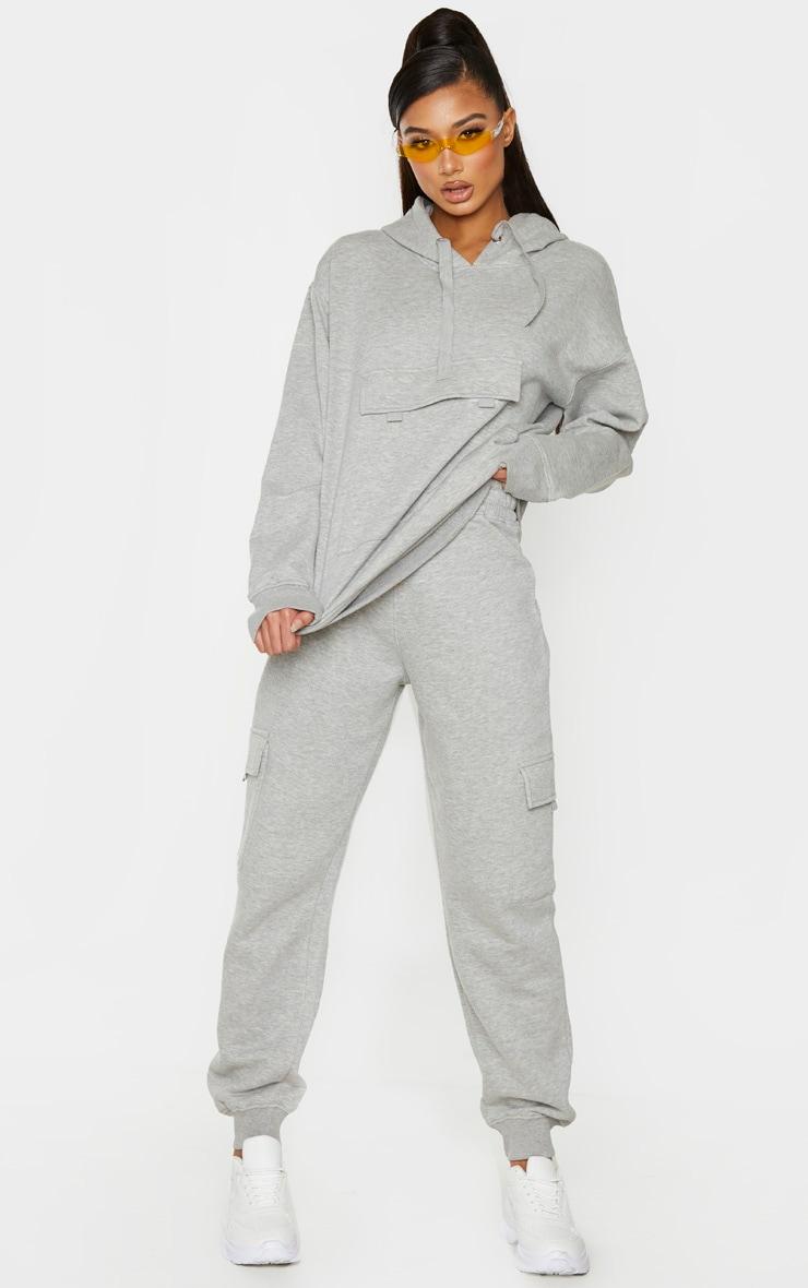 Grey Oversized Pocket Hoodie 4