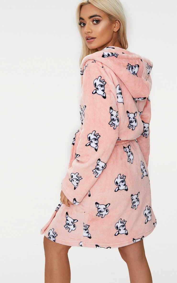 French Bulldog Printed Dressing Gown 2