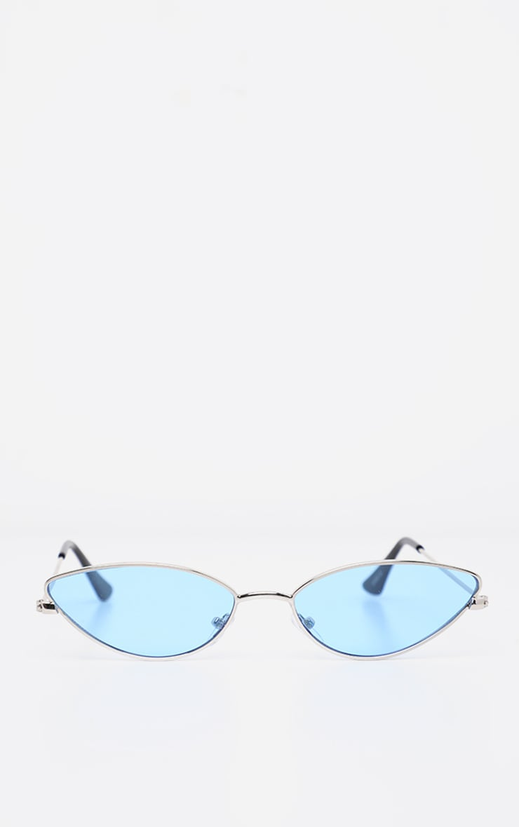 Blue Revo Metal Almond Shape Readers 2