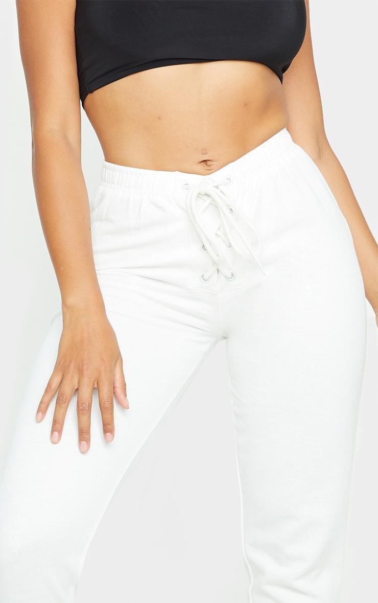 Shape Cream Lace Up Detail Sweat Joggers 4