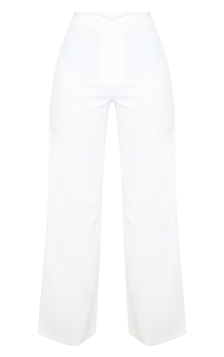 Petite White Tuxedo Trousers 3