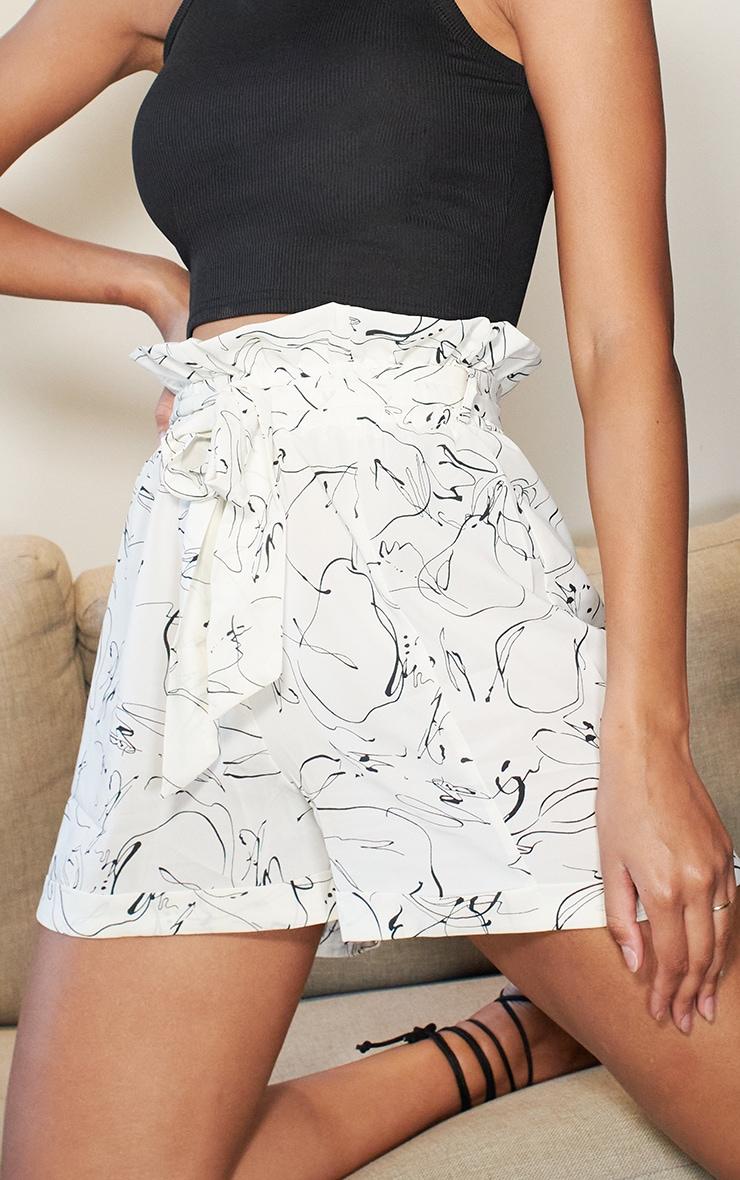 Marble Print Tie Waist Short 5