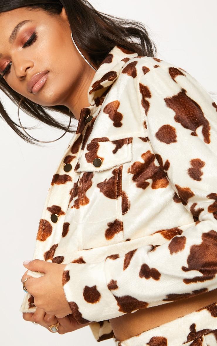 Cream Cow Print Jacket 5