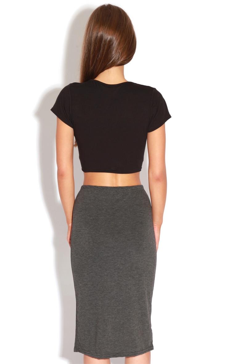 Marie Charcoal Basic Midi Skirt 5