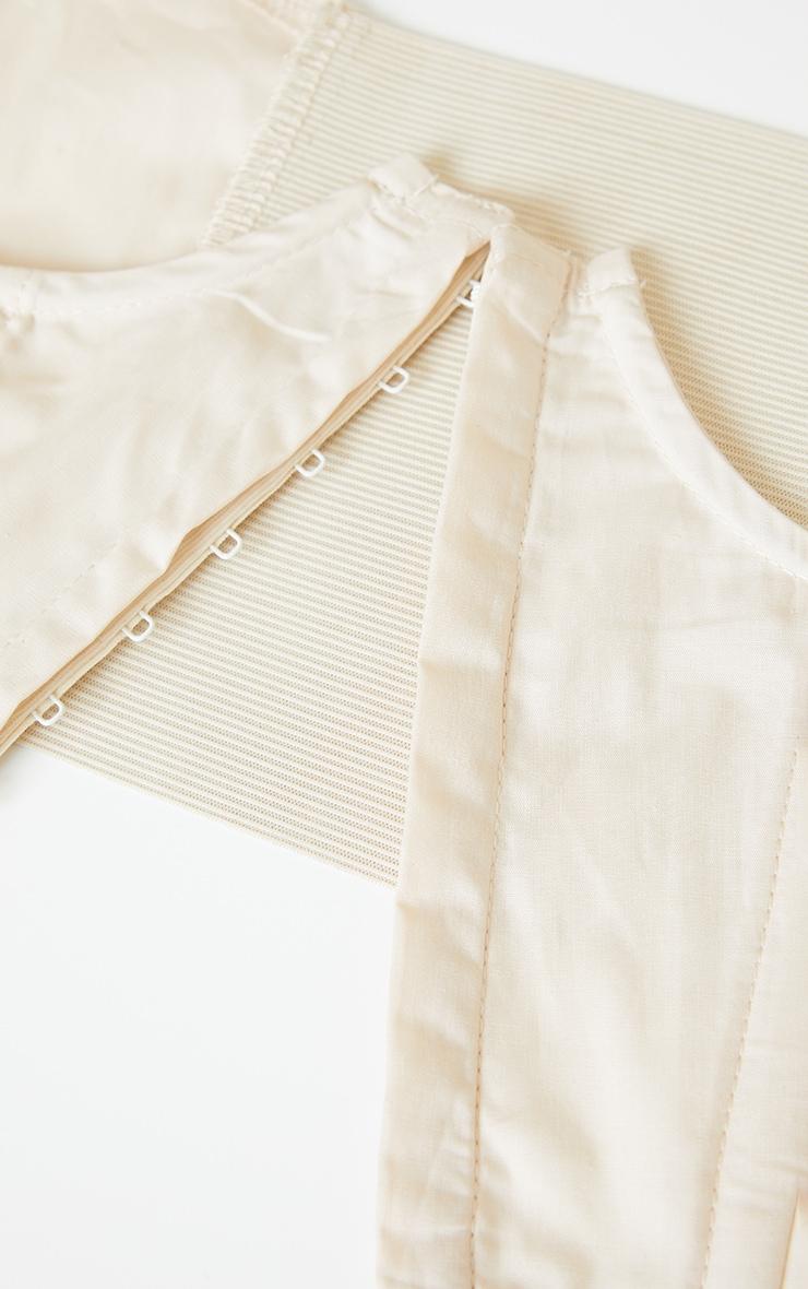 Cream Boned Cut Out Corset Belt 3
