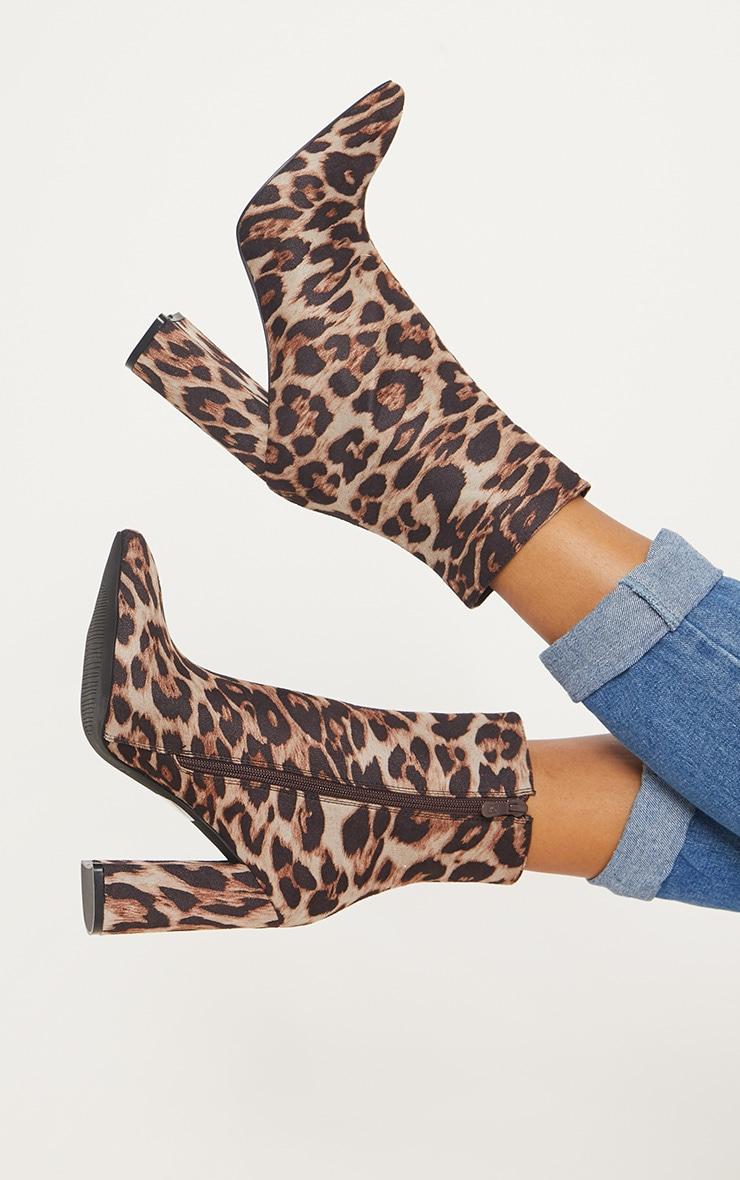 Leopard Print Heel Ankle Boot