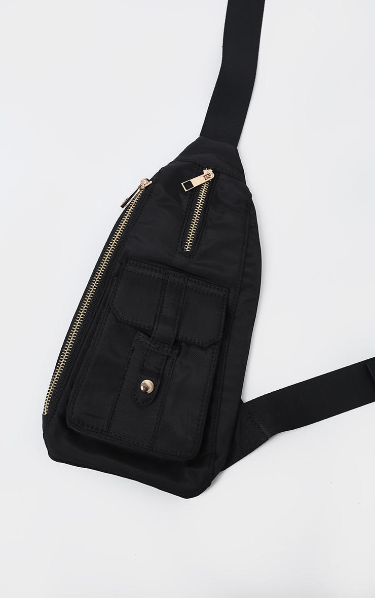 Black Front Messenger Bag 2
