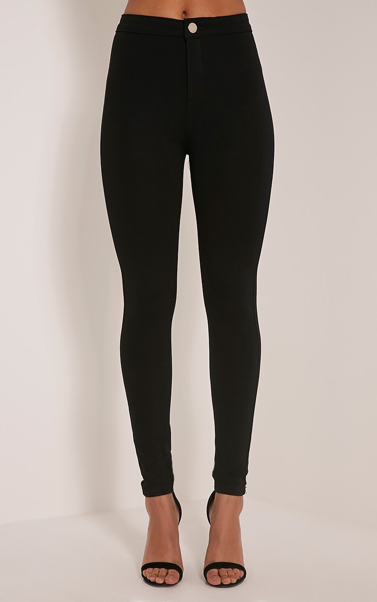 Serinna jeggings noirs taille haute 2