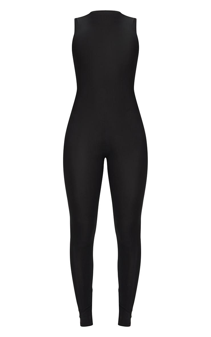 Black High Neck Sleeveless Jumpsuit 5