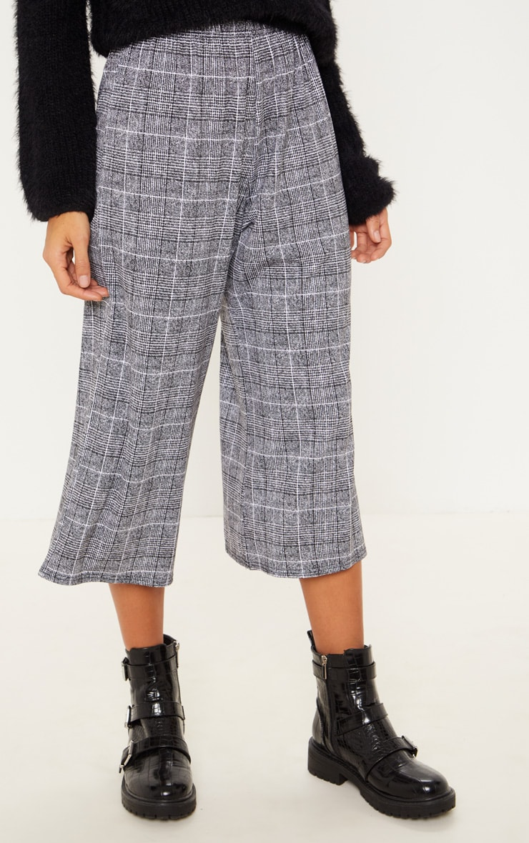 Black Check Culotte 2