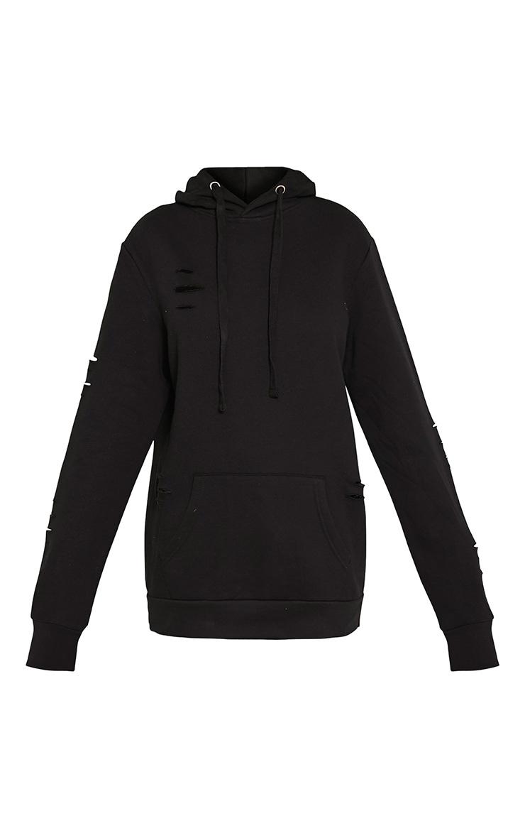 Hadley Black Longline Knitted Cardigan 2