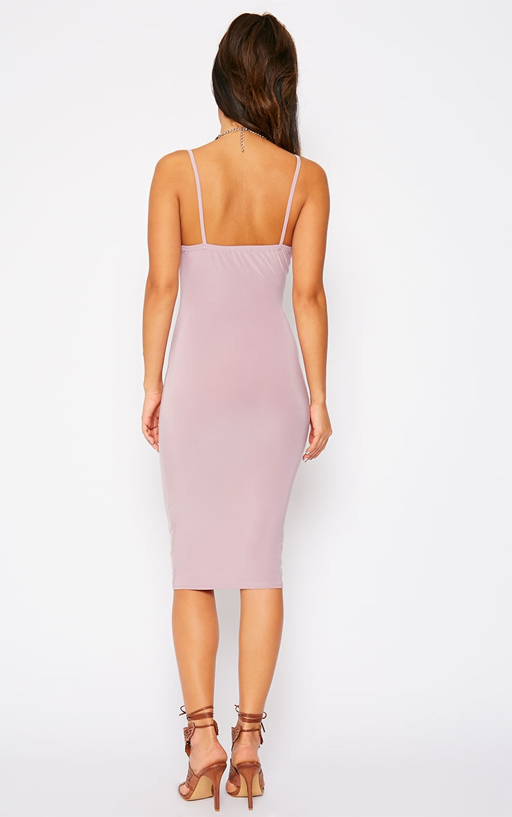 Harpe Mauve Slinky Midi Dress 2